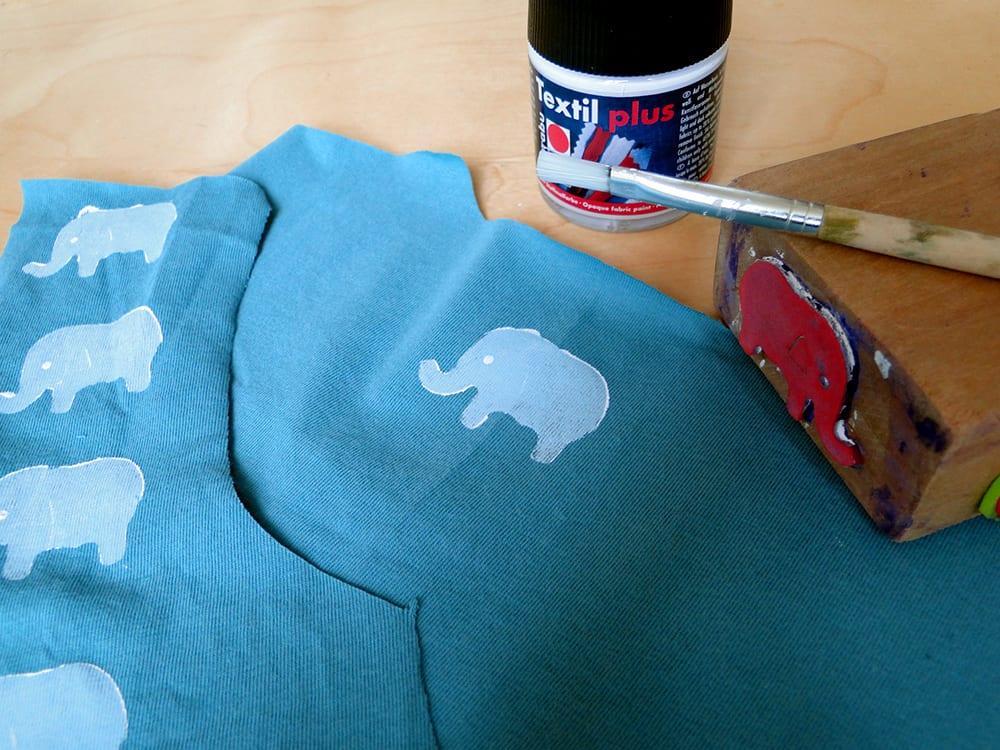 Shirt bedrucken mit Elefanten