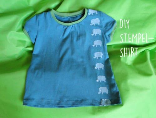 DIY: Stempel-Shirt für Kinder mit Stofffarbe