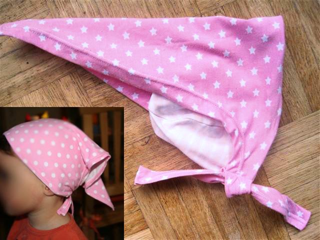 Kopftuch-Mütze nähen für Kinder