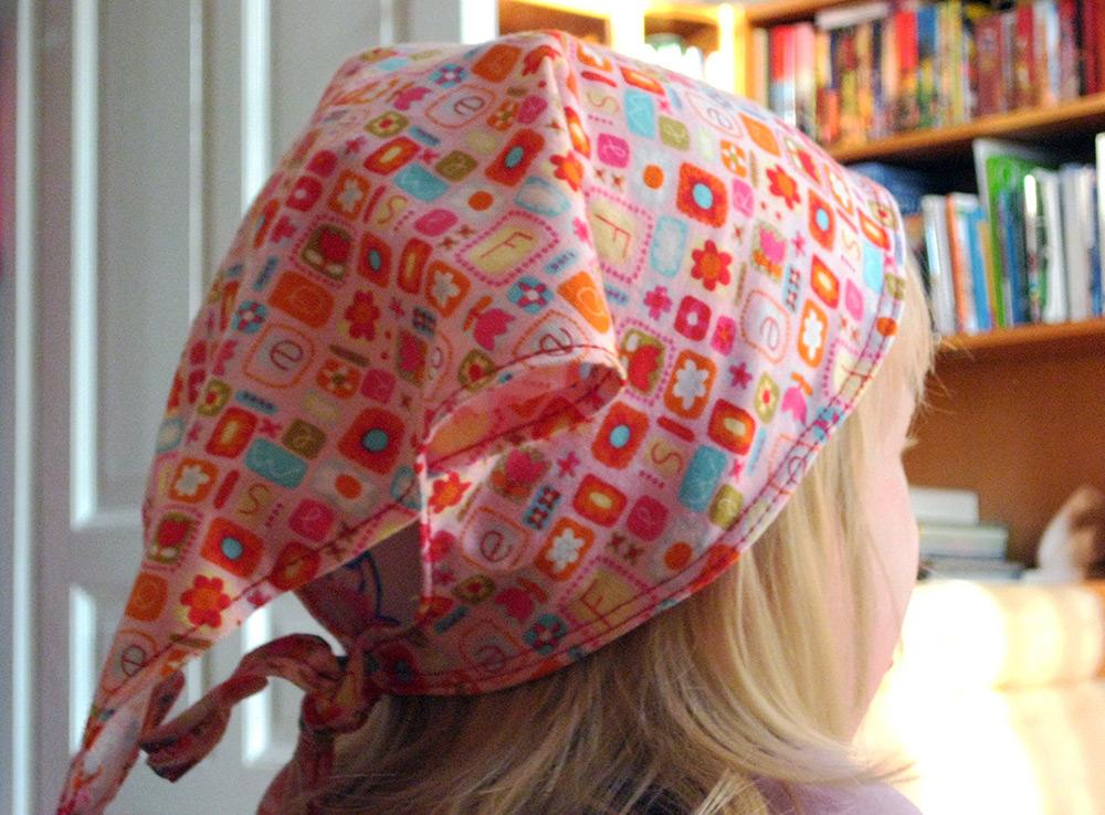 Kopftuchmütze: Schnittmuster für Mädchen