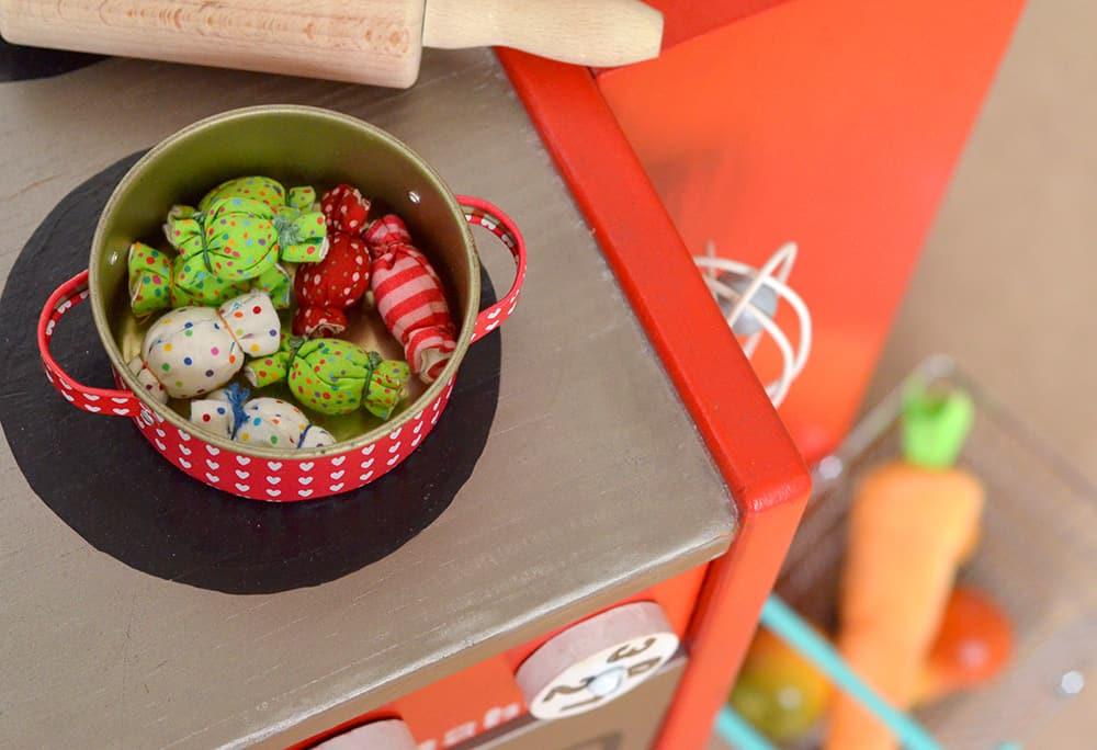 Bonbons für die Kinderküche nähen