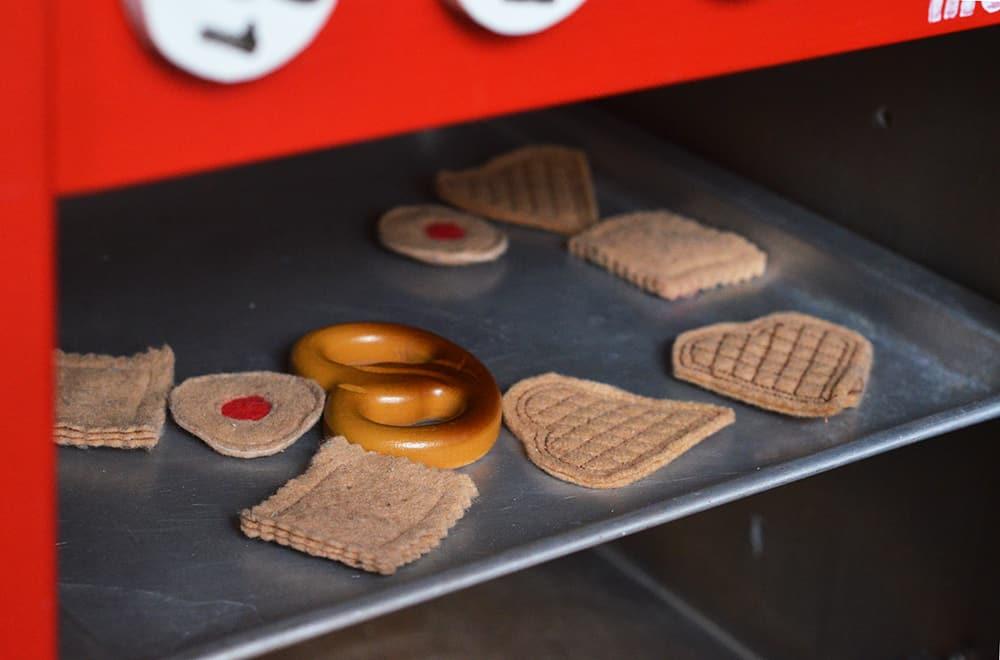 Kekse und Waffeln aus Filz, selbstgenäht für Puppenküche oder Kaufladen
