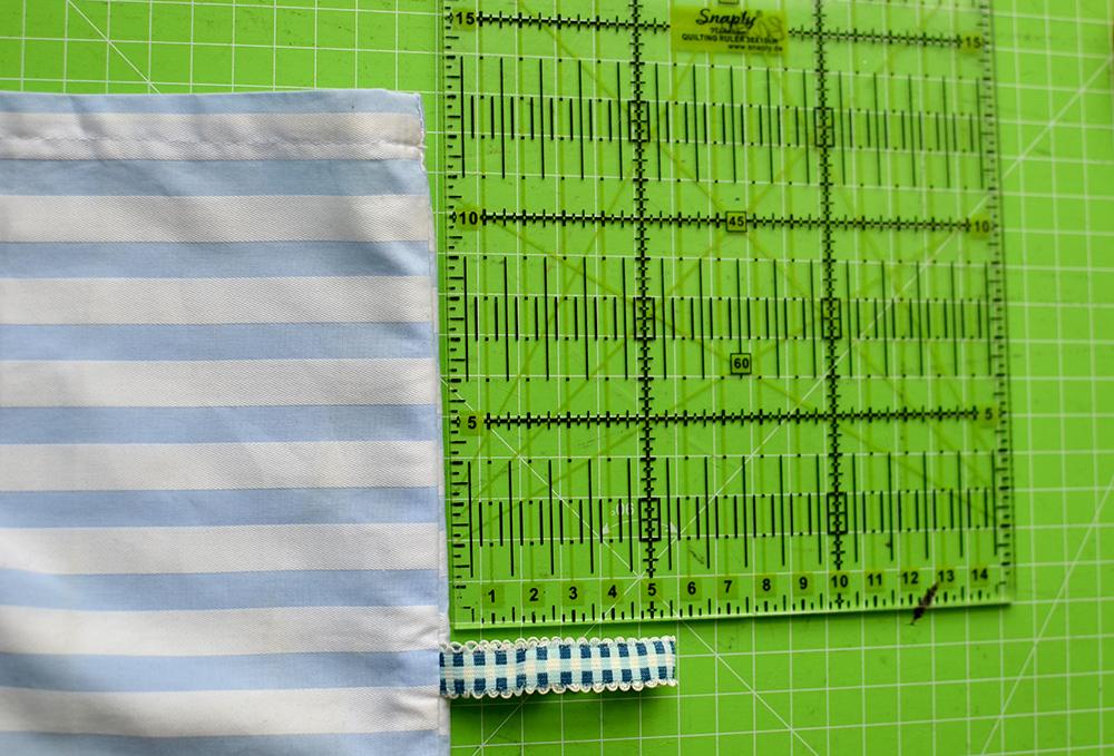 Nackenkissen / Rolle bezug selbernähen: Verschluss abmessen