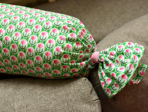 Nähidee: Kissenbezug mit Gummizug verschließen