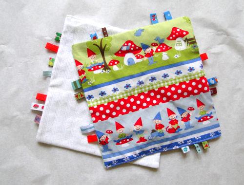 Knistertuch für babys nähen: Das Tuch ist fertig