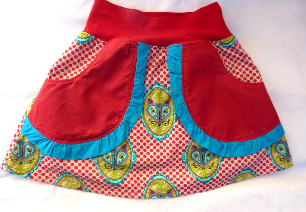 Quick- und Easy Schnittmuster für Kinder-Röckchen aus Baumwolle