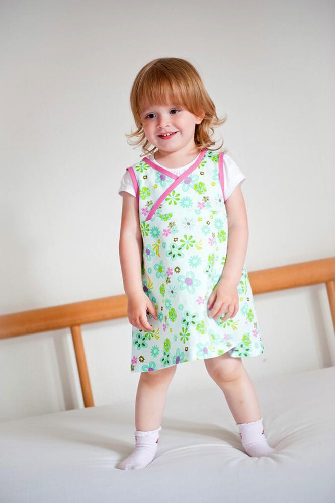 Lieblingskleidchen für kleine Mädchen: Anfängerschnittmuster einfach zu nähen