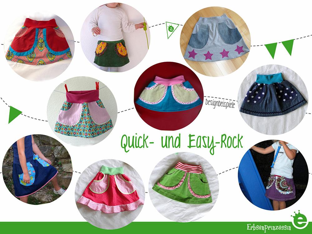 Quick- und easy Rock Schnitt und e-Book: Anfängertaugliches e-Book für einen Mädchenrock