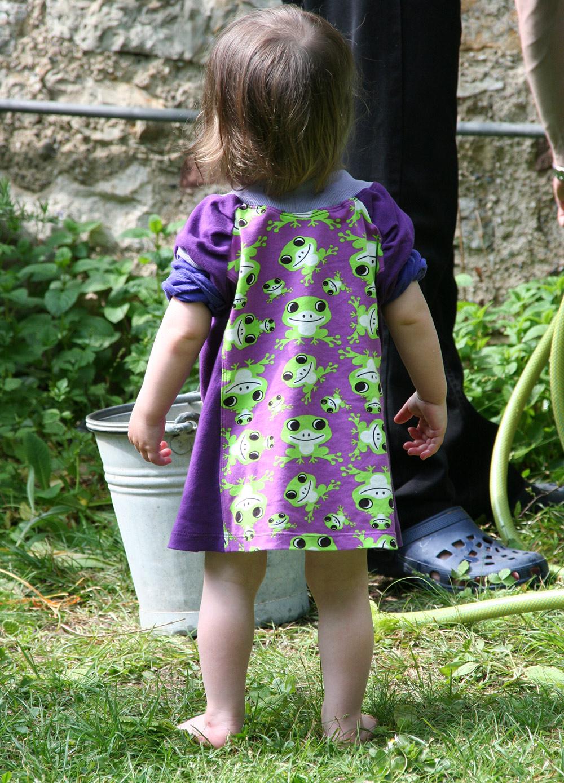Schnitt für Mädchenkleid aus Jersey