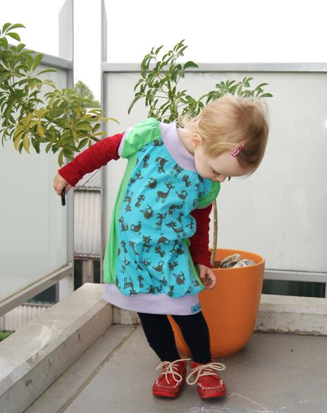 Schnittmuster jerseytaugliches Kinderkleid