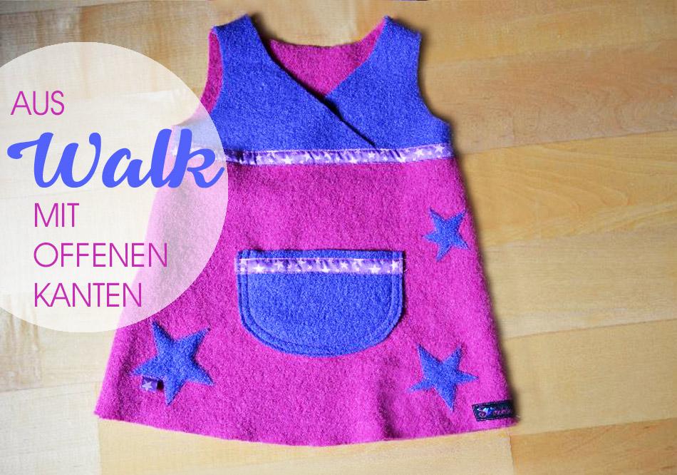 Kleidchen / Hängerchen aus Walk nähen, anfängertauglich