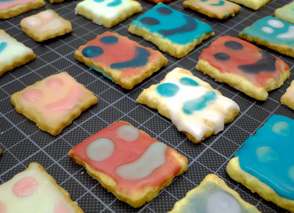 Smily-Kekse, bunte Kekse backen
