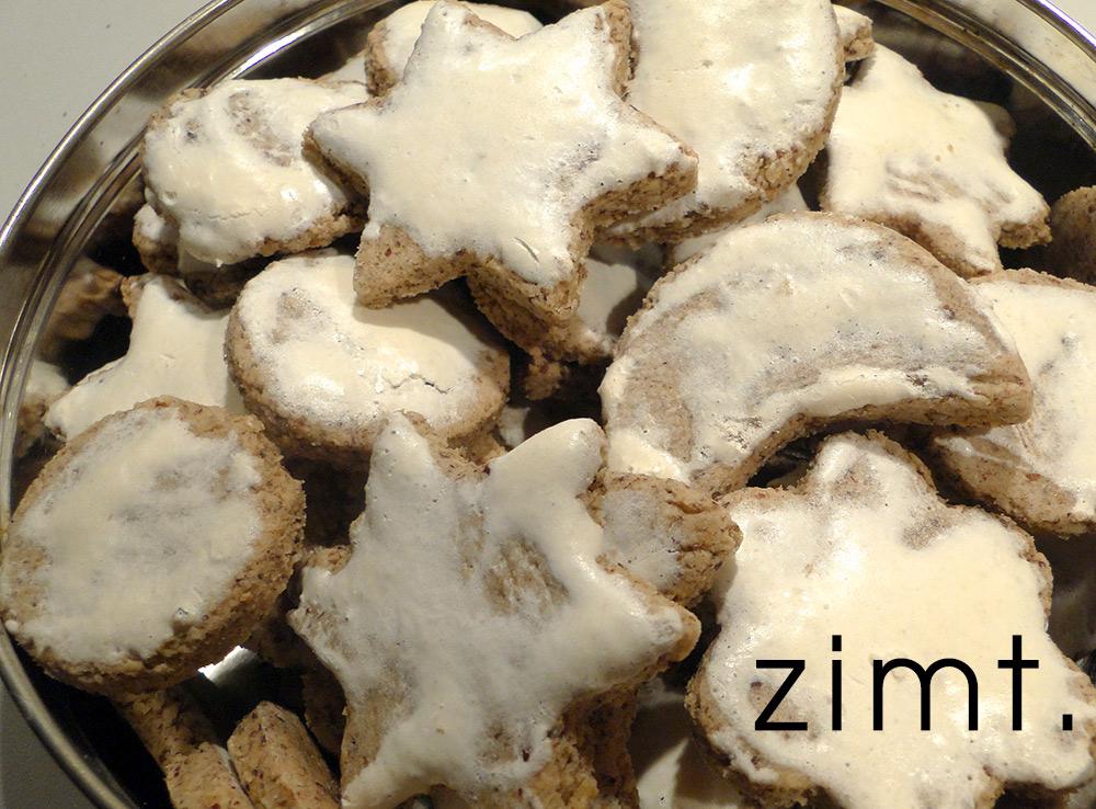Zimsterne, Weihnachtskekse selbst gebacken