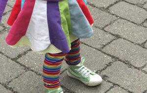 Blumendrehrock nähen: Schnitt für Kinderrock aus Baumwolle