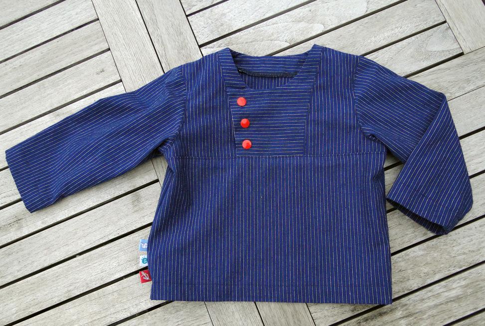 Fischerhemd für kinder: einfaches Schnittmuster
