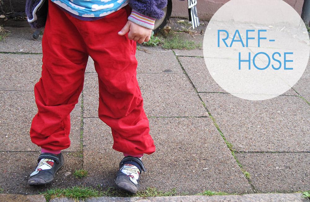 Raffhose aus Cord: Hose für Mädchen selbernähen