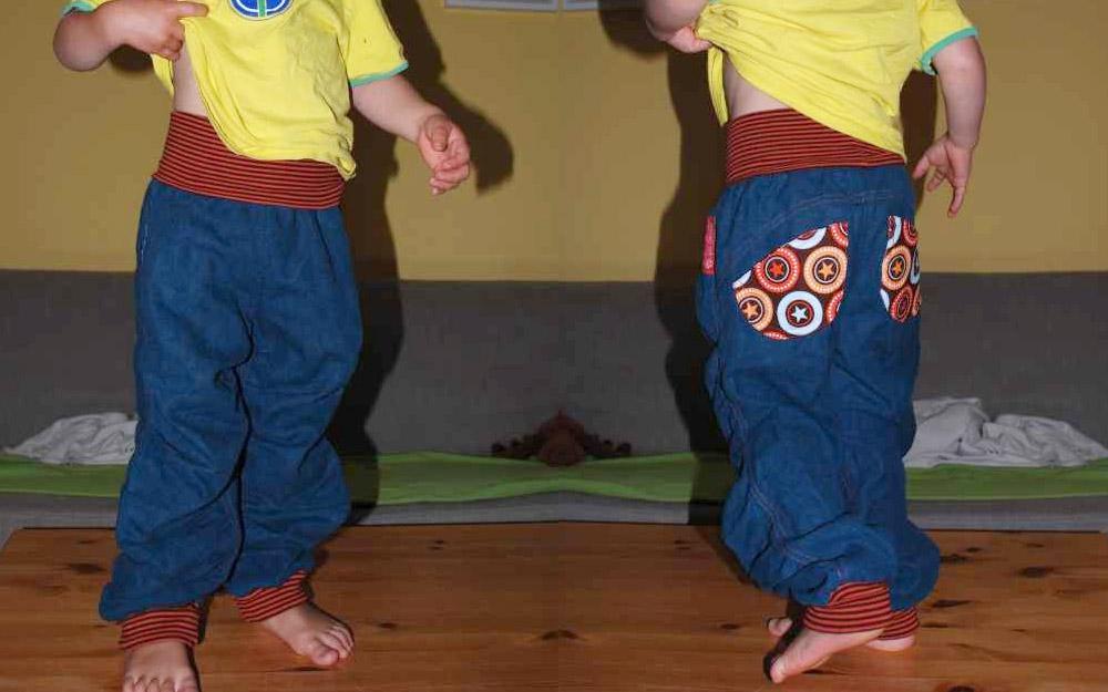 Schnittmuster für bequeme Kinderhose mit Bündchen