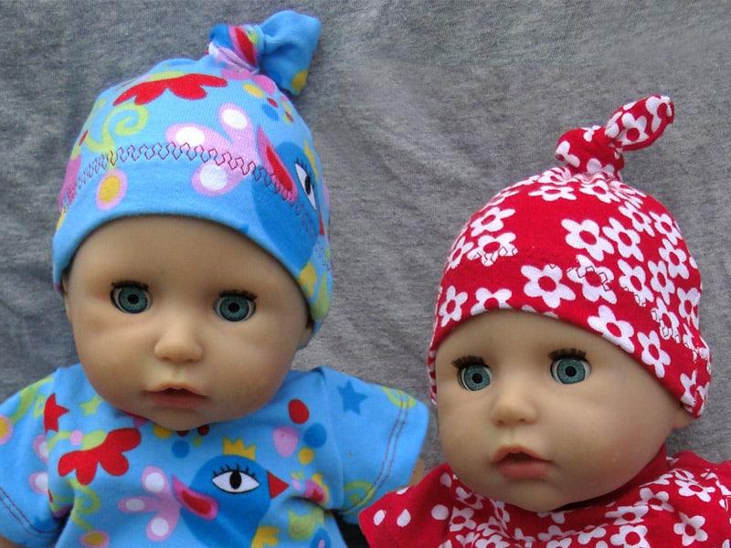 Knotenmütze nähen: Gratisschnittmuster für Puppenmütze