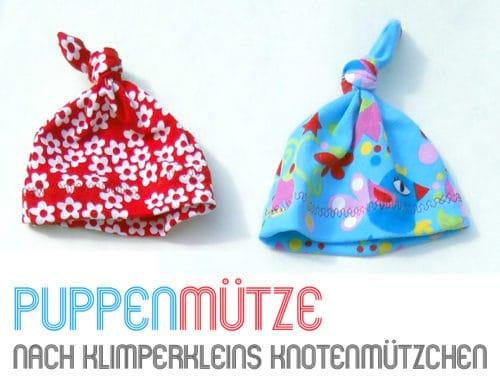 Knotenmützchen für Puppe nähen: Gratis Schnitt