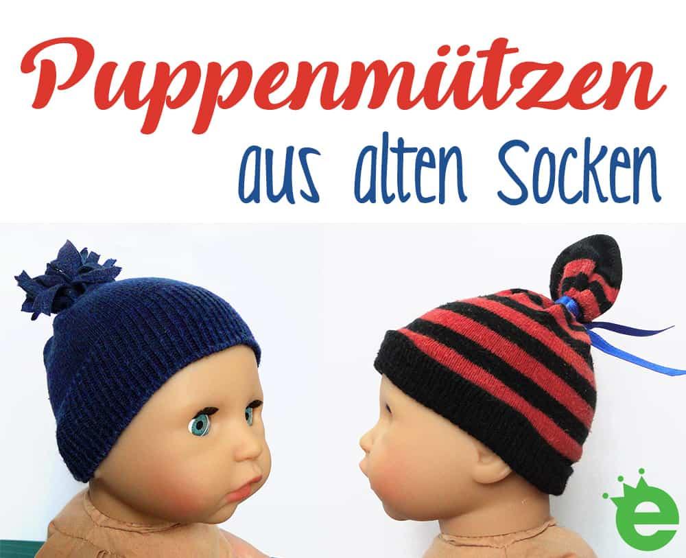Upcycling-Projekt für Kinder: Puppenmützen aus alten Socken