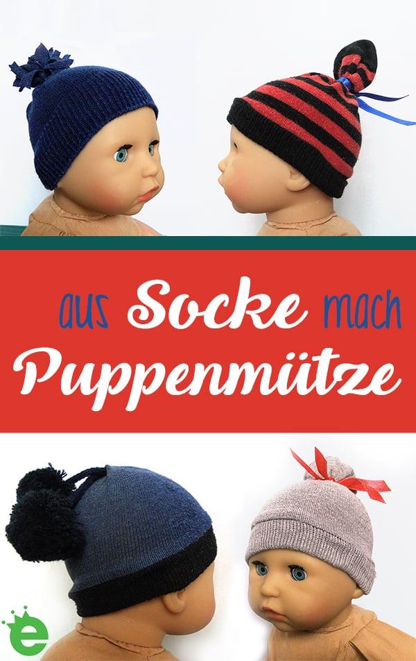 aus Socke mach Puppenmütze