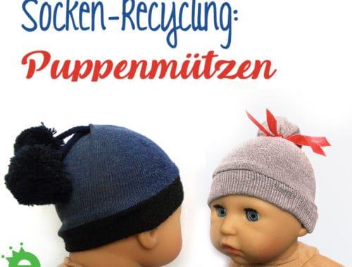 Socke-Recycling: Schnelle DIY Puppenmützen
