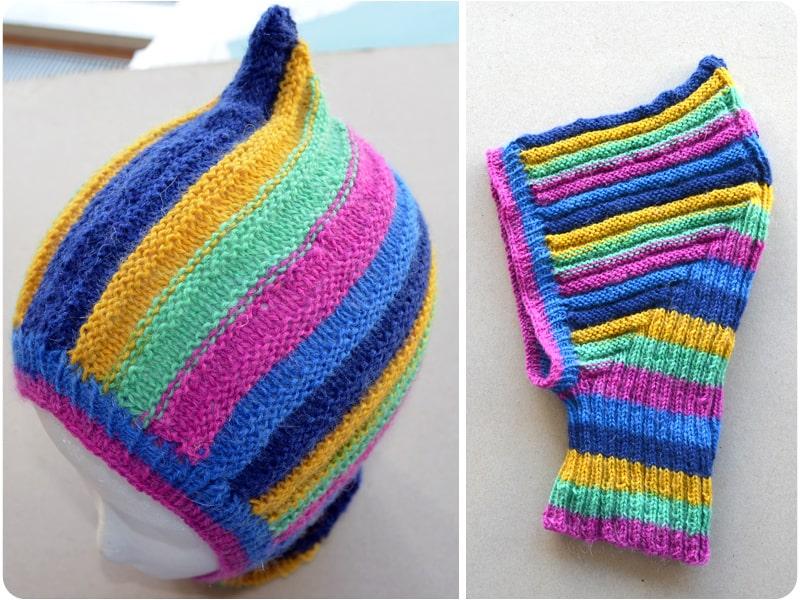 Mütze selber stricken: Schlupfmütze für Kinder