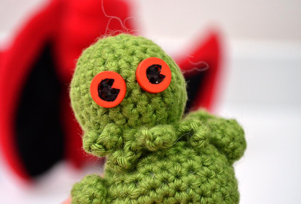 Amigurumi-Cthulhu: Nerdige gehäkelte Minifigur Lovecraft