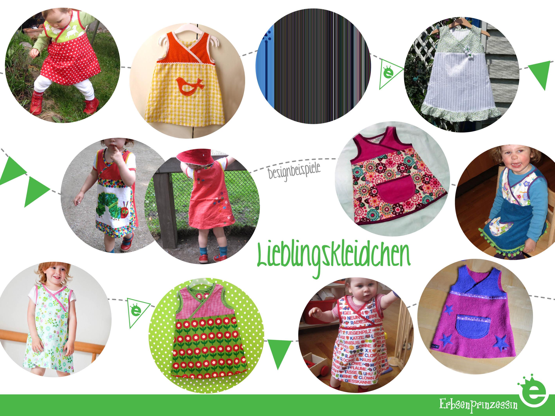 Designbeispiele: Schnittmutser Lieblingskleidchen aus Baumwolle für kleine Mädchen