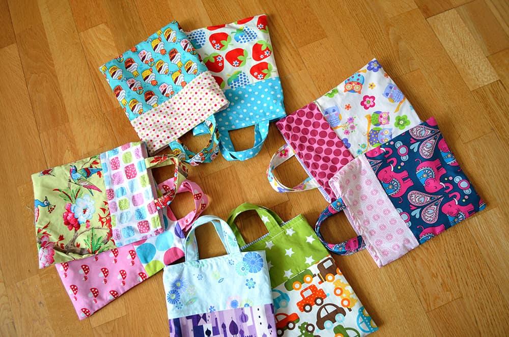 Geburtstags-Mitgebsel selber genäht: Kleine Taschen