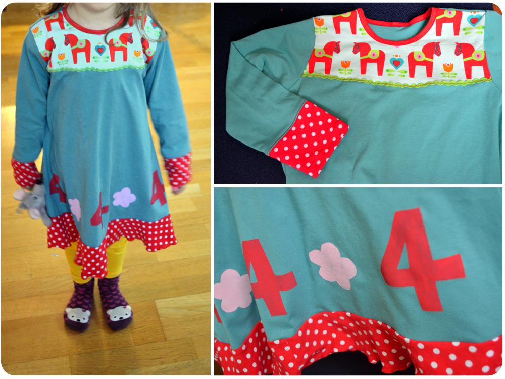 Kleid für Mädchen mit Pferden nähen