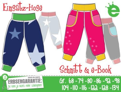 Einsatz-Hose: Schnittmuster und e-Book Kinderhose Gr. 68 bis 134