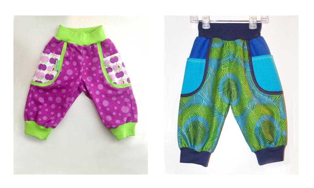 Einsatz-Hosen für Kinder nähen aus baumwolle mit Bündchen