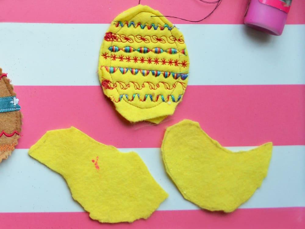 Basteln für Kinder: Osterdeko aus Filz