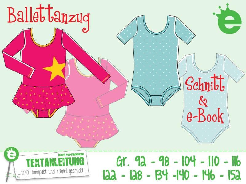 Kinder-Ballettanzug: Schnittmuster und e-Book, Gr. 92 bis 146
