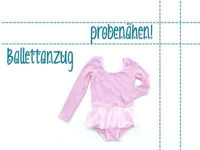 Probenähen: Ballettanzug für mädchen Gr. 92 bis 152