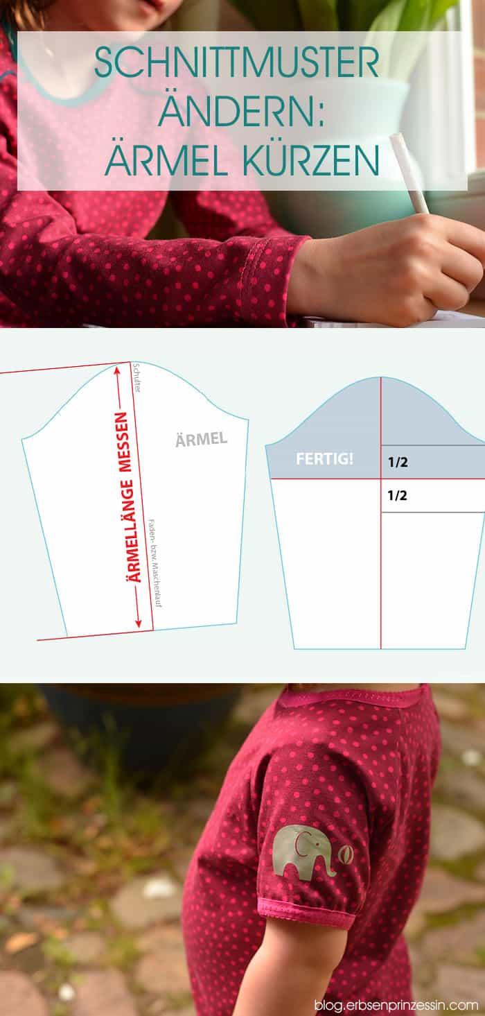 Nähtipps: Aus Langarm mach Kurzarm, aus Longsleeve wir T-Shirt. Schnittmuster ändern, Ärmel kürzen