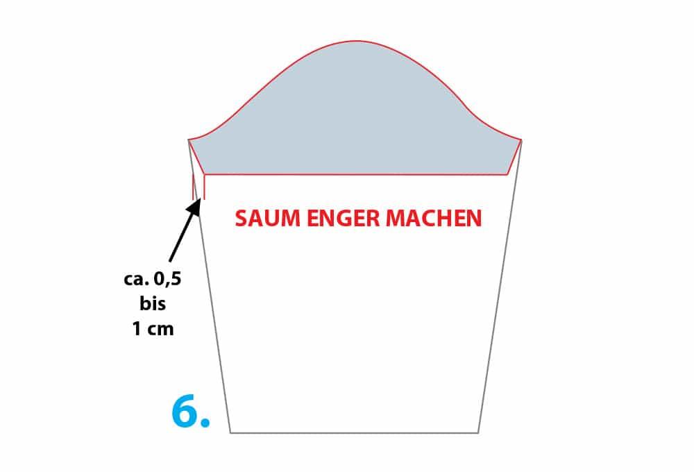 Schnittmuster modifizieren, Anleitung: Vom Longseelev zum kurzärmeligen T-Shirt