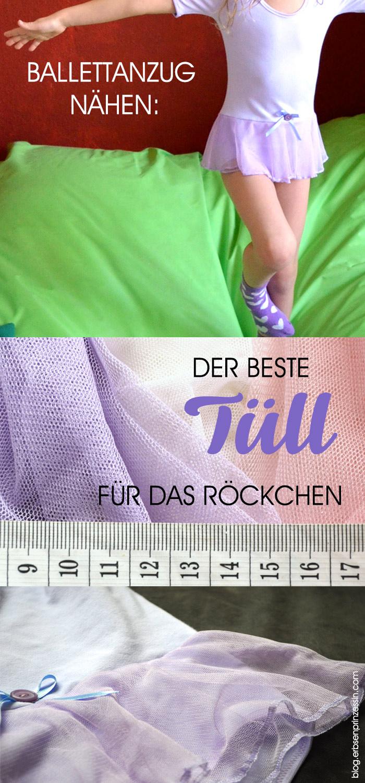 Stoffvergleich: Welcher Tüll eignet sich am besten für das Battell-Röckchen? Ballettanzug für Kinder nähen, Schnittmuster, ebook, Warenkunde