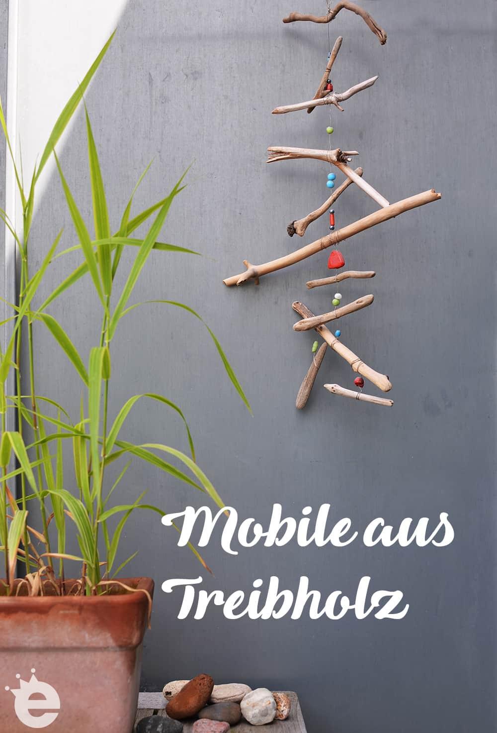 Mobile aus Treibholz DIY selber basteln