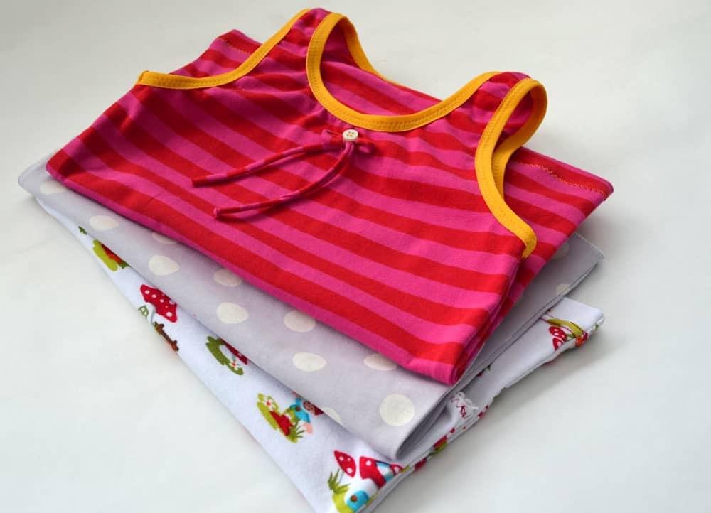 Mädchen-Unterhemden nähen