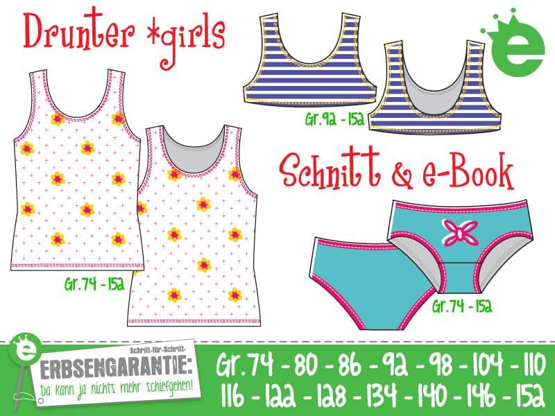 Drunter *girls: Schnittmuster und e-Book für Mädchenunterwäsche