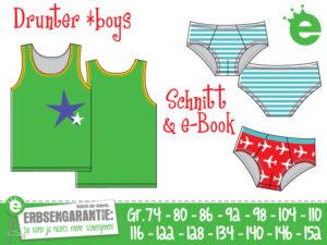 Drunter *boys: Unterwäsche-Schnittmuster für Jungen