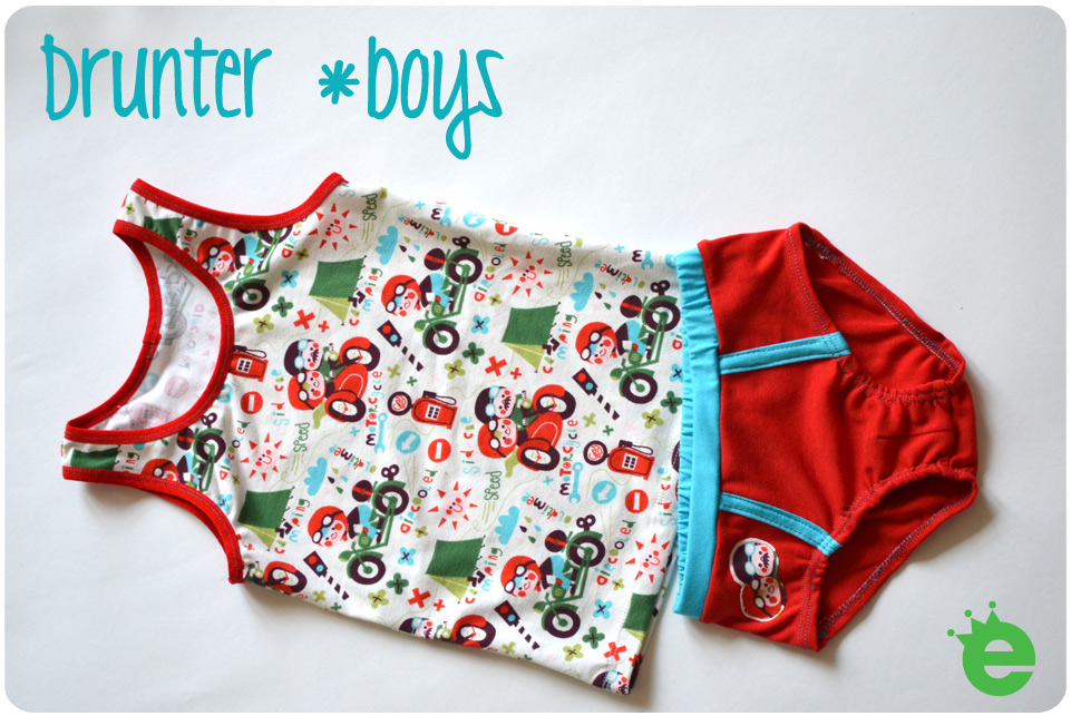 Unterhose und Unterhemd für Jungen nähen anleitung