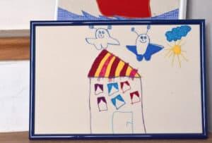 Geschenkidee: Kinderzeichnungen nähen und applizieren