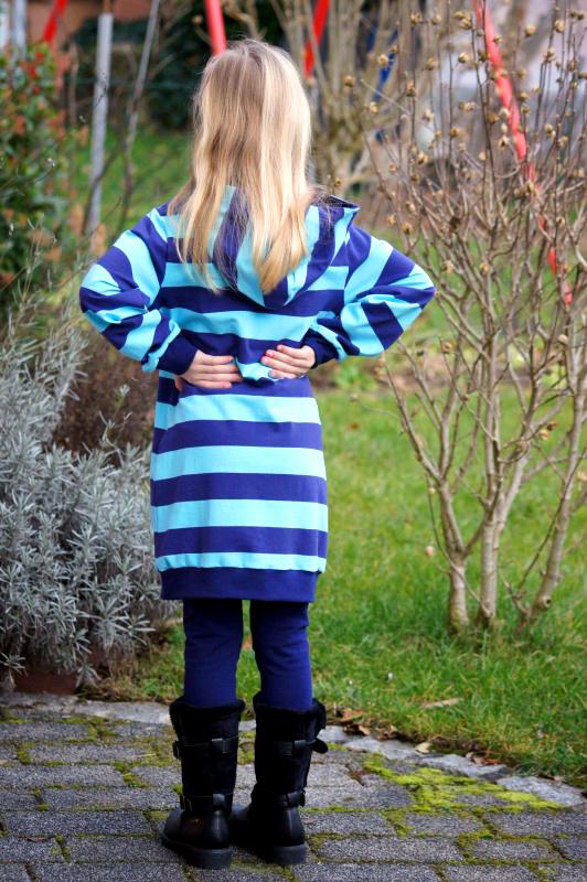 Longshirt, Sweatkleid für Mädchen selbernähen
