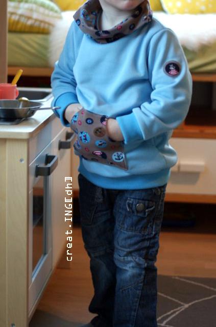 Hoodie-Schnitt LongiHood: kapuzenpulli nähen für Kids