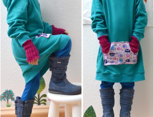 Longihood: Schnittmuster für ein Kinder-Kapuzenkleid aus Sweat
