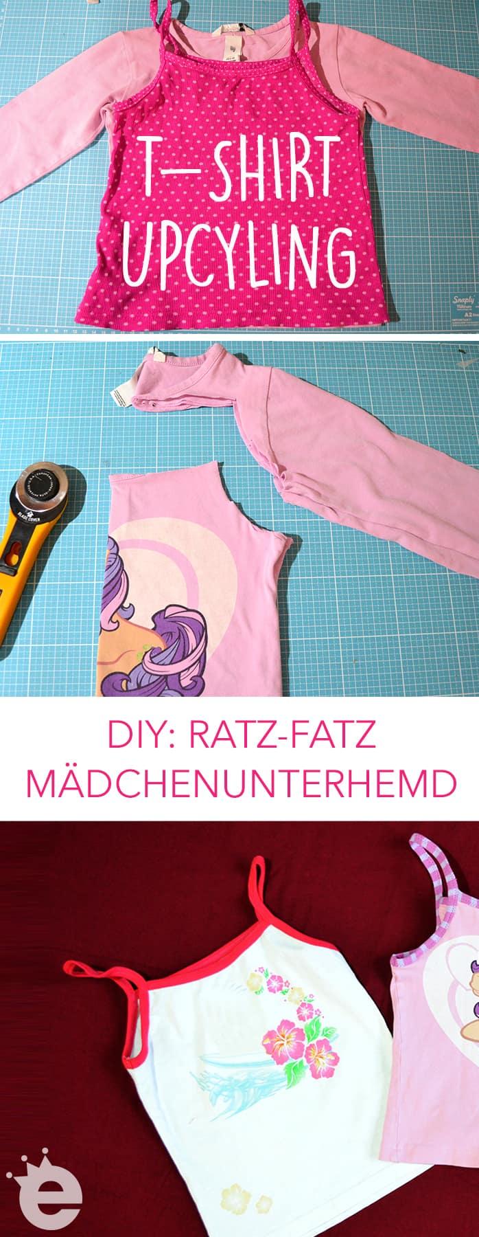 Shirt-Upcycling: DIY Nähanleitung Aus Longsleeve mach Unterhemd. Trägertop aus zu kleinem Shirt nähen