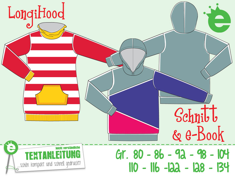 Longihood: Sweatshirt-Schnittmuster für Kinder mit Näh-e-Book